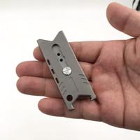 Şişe w Freeshipping Otomatik Kilit Fonksiyonlu Titanyum Utility Bıçak Taşınabilir Mini Kağıt Kesici Pocket Kağıt Bıçak
