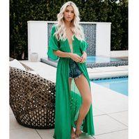 Bikini Dissimulations été Cardigan Rash Guards Designer Bikini Robe Femmes de vacances dentelle longue