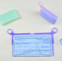 Silikon-Gesichtsmaske Lagerung Clips Wiederverwendbare Maskenhalter-Organisator-Fall faltbare beweglichen Aufbewahrungsbehälter für Masken tragen LJJK2366
