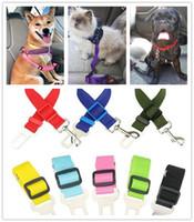 مقعد كلب السيارة حزام الأمان حزام قابل للتعديل ضبط النفس الرصاص المقود السفر كليب الكلاب لوازم اكسسوارات