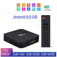TX3 الروبوت 9.0 TV صندوق S905X3 4GB رام 32GB / 64GB ROM 2.4G + 5G WIFI أفضل من X96 البسيطة TX3 البسيطة