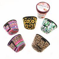 Neoprene Ice Cream caso capa Leopard, Girassol, Cacto Imprimir pode refrigerador Covers Ice Cream Titular Pouch Tools