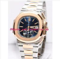 10 Style New Luxury Watches 5980 / 1A 40,5 millimetri in oro argento Bracciale in acciaio inossidabile automatico moda orologio da polso da uomo