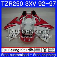 Kit For YAMAHA TZR 250 3XV YPVS TZR-250 cowling white 92 93 94 95 96 97 245HM.19 TZR250RR RS TZR250 1992 1993 1994 1995 1996 1997 Fairing