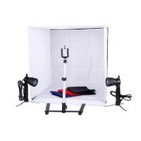 Фотостудия 24-дюймовая фотография освещения палатки комплект набор фона кубик в коробке мини стенд Best продавец