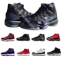 XI Prom Cap e Gown Ginásio Red Space Jam Win como 96 11s Homens Tênis De Basquete Athletic Sports Sneakers tamanho 5.5-13