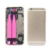 En Yeni Yedek Parça Konut iPhone 6 6G Arka Pil Kapağı Arka Kapı Arka cam için tamamlanan