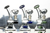 Bong in vetro denso Mini Dab Rigs Fumo Tubi di vetro Unico Bong Heady Glass Bubbler Narghilè con 14mm Bowl 6.3 pollici