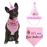 Pet Köpek Malzemeleri Doğum Günü Şapka Karikatür Tasarım Yavru Hoodie Sıcak Kış Sevimli Güzel Doğum Günü Partisi Kostüm Süslemeleri Giyim 2 Renkler