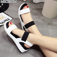 Summer Sandals Women Flat Shoes Peep- toe Sandalias Roman San...