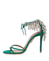Hot Sale-estate sandali di cristallo Eden mujer sexy ladies tacchi alti EU35-42 sposa partito