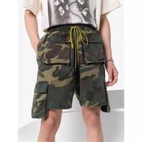 Camuflagem Shorts Homens Mulheres 1 Top versão multi Pockets Praia Sportswear Shorts