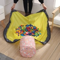 Portable Kids Toy Storage Basket Large Play Mat Toy Clean- up...