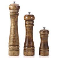 Sale e Pepe di legno Mill pepe con forte macina in ceramica regolabile con ricambio Rotor ceramica - Accessori per cucina