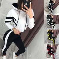4 Colors Womens Two Piece Sets 2019 Slim Casual Tops and Ski...