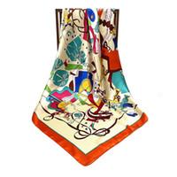 Mme Mai Tong de 90cm * 90cm de nouveaux éléments de sacs de mode foulards de soie grand foulard carré wwrn