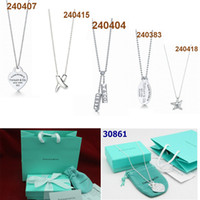 Free shipping Hot Tiffany 925 sterling silver jewely style N...