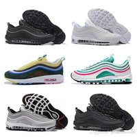 nike air max 97 airmax Hot New casual Tripel White Black Metallic Gold Silver Bullet PRM WHITE 3M Premium mens Shoes for Men Women