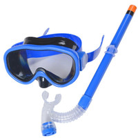 Children Swimming Goggles Mask Semi- dry Snorkel Scuba 40cm  ...
