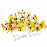 yeni 3D Kelebek Duvar Etiketler 12PCS Buzdolabı sopa Dekor için dolabı Mıknatıslar Mutfak Oda Salon Bar DecorationT2I5368