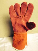 Welding WELDERS Work Soft Cowhide Leather Plus Gloves For pr...