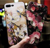 Элегантный чехол для телефона с цветком для iphone xr xs max x 8 7 6 6s plus Чехол для мобильного телефона для vivo v9 blue oppo r7 9 11 huawei p10 lite p20 mate