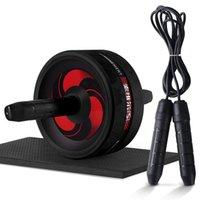 Loogdeel 2019 Hot Ab RollerJump Seil No Noise Abdominal Rad Ab Roller mit Matte für Übung Fitness T200520