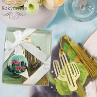 20PCS Cactus Bookmark with Tassel Wedding Favors Birthday Gi...