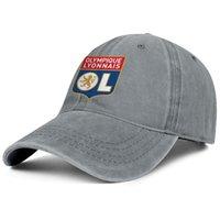 Şık Olympique Lyonnais Les Gones OL Unisex Denim Beyzbol Şapkası Boş Takım Şapka Hindistan Cevizi Ağacı Bayrak Etiket Flaş Altın Eşcinsel Pride Gökkuşağı