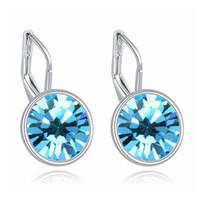 100% оригинальные украшенные с кристаллом из SWA Bella Mini Piercing Серьги Падение Мода партии Ювелирные Изделия Женщины Девочки Студенты Подарок