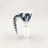 Nuovo US colorato 14 millimetri 18 millimetri Maschio ciotole di vetro con manico colorato fumatori Bocce pezzo per i tubi di vetro Bong Acqua Dab Rigs