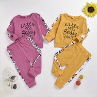2 Color Children Boys Girls sunflower letter printed Pajamas...