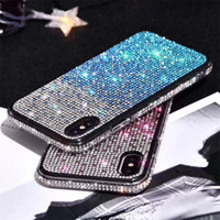 Gradient Glitter Soft TPU Crystal Diamond Case for iPhone 12 11 Pro XR XS Max X 8 7 6 SE 2020 Samsung S10 Plus Note 10 10+ 20 Ultra