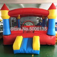 3x3x2m Castelos Insufláveis Castelos Insufláveis pulando castelo Salto Casa bouncer inflável com Slide para Crianças divertido jogar