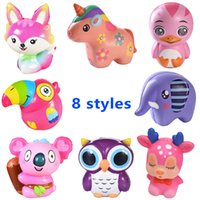 Slow Rising Kawaii Squishy Animal Unicorns Elephant Duck Owl...