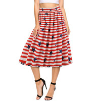2019 Popular Women Skirt Fashion Ladies American Flag Print ...