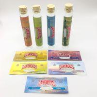 20 * 120 мм DANKWOODS мини стеклянных бутылки включают наклейки OEM и красочный сургуч Dankwoods Packwoods Ролл упаковку Для сухой травы хэша