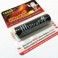 Haute qualité UltreFire 18650 6000mAh 3.7V batterie au lithium peut être utilisé dans la torche lumineuse forte lampe de poche lumière