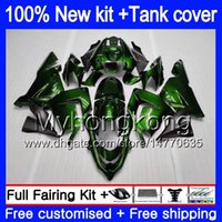 Body + Tank für KAWASAKI ZX ZX1000 CC R 10 ZX10R 2004 2005 Gut Dunkelgrün 214MY.68 ZX10R 04 05 ZX1000C 1000CC ZX 10R 04 05 ABS-Verkleidungen