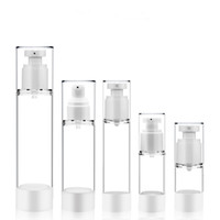 15 30 50 80 100ml Transparent Plastic Airless Bottle Vacuum ...