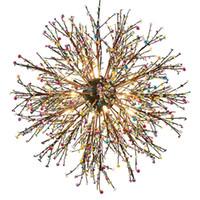Havai fişek-LED-Avize-Işık-Paslanmaz-Çelik-Kristal-kolye-Aydınlatma-Tavan