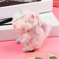Cartoon Doll Unicorn Plush Chaveiro Adorável Animal de Brinquedo do unicórnio de pelúcia 13 * 7cm