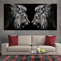 1 Piece Canvas Painting Animal Lion Roraing Room Decor Pictu...