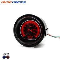 Sensör 40-140 santigrat Araba Meter ile 2inch 52mm Araba EVO LCD Su sıcaklığı göstergesi Kırmızı / Mavi Su Sıcaklığı Ölçer
