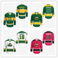 Kundenspezifische Männer Frauen Jugend Humboldt Broncos Weiß Alternativer Hockey-Jersey 100% Nähen benutzerdefinierte Namensnummer Hight Qualität