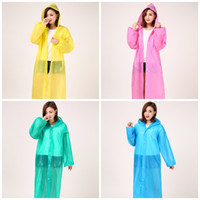 Légère Outdoors doit Imperméable incessibles EVA urgence Imperméables transparent Sweats à capuche Poncho Rainwear Color Mix 4 7YT E19