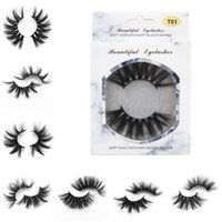 25mm False Eyelashes Thick Strip 25mm 3D Mink Lashes Extra L...