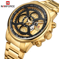 NAVIFORCE Men Fashion Sports Watches Men Gold Quartz Clock M...