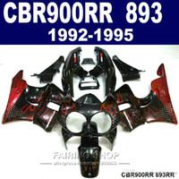 Kit carenatura di alta qualità per Honda CBR900RR CBR 893 1992-1995 set carene rosse nere per fiamme CBR 900 RR 09 10 11 XC34