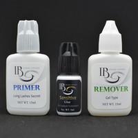 Eyemix Ресница Extensions Kit Primer Сафть Клей для снятия клея для индивидуальных ресниц клея Set Бесплатной доставки